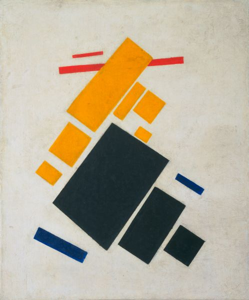 Malevich's Suprematist Composition: Airplane Flying. 1915.