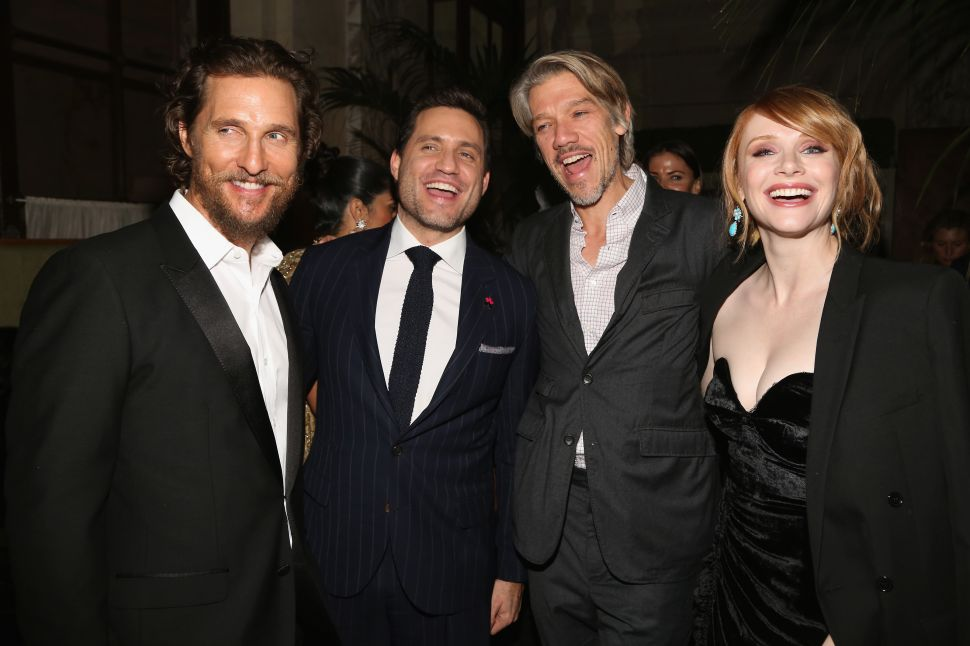 Matthew McConaughey, Edgar Ramirez, Stephen Gaghan, Bryce Dallas Howard.