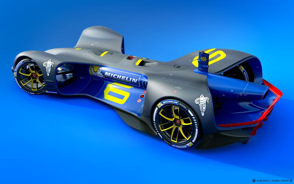 The autonomous vehicle motorsport startup Roborace recently announced a partnership with Michelin.