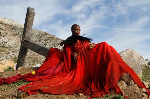 Florence Kasumba as Wicked Witch of the East.