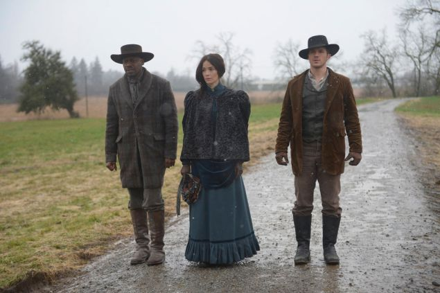 Malcolm Barrett as Rufus Carlin, Abigail Spencer as Lucy Preston and Matt Lanter as Wyatt Logan.