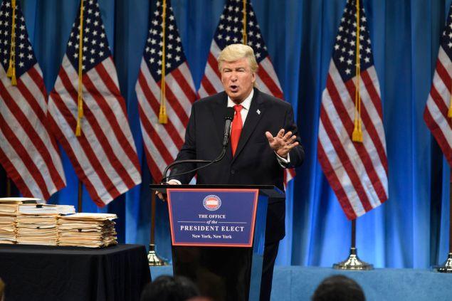Alec Baldwin as President Elect Donald Trump.