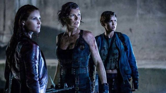 Ali Larter as Claire Redfield, Milla Jovovich as Alice and Ruby Rose as Abigail.