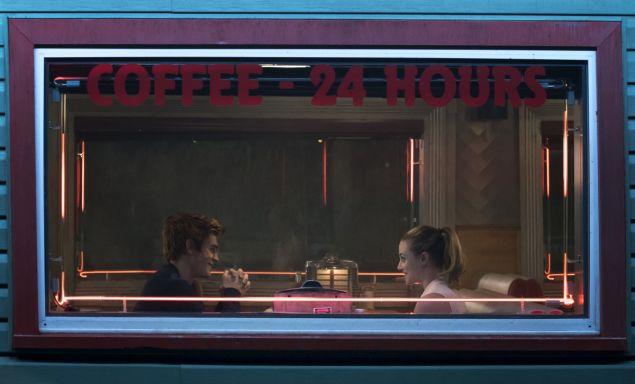 KJ Apa as Archie and Lili Reinhart as Betty.