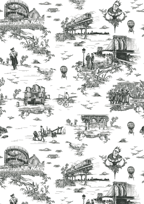 The Brooklyn Toile can also be found in the homes of Mike D. and Brooklyn Decker.
