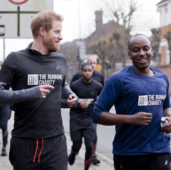 Prince Harry runs with