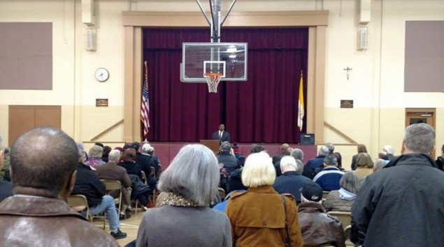 Monmouth County Democrats gather to elect a new chairman.