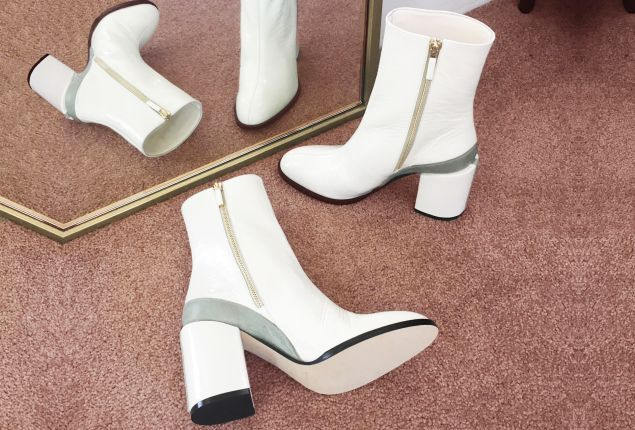 Dear Frances Spirit Boot in White, $550, DearFrances.com.