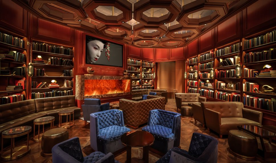 The Dorsey's library is built for cocktails and conversation.