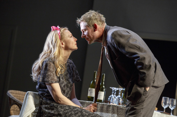 Cate Blanchett as Anna Petrovna and Richard Roxburgh as Mikhail Platonov.
