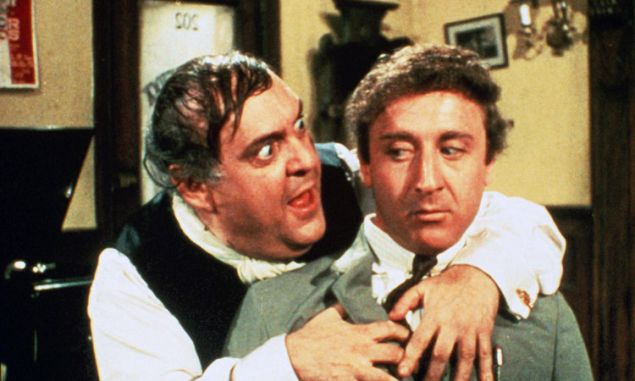 Zero Mostel and Gene WIlder in Mel Brooks' 1968 film The Producers.