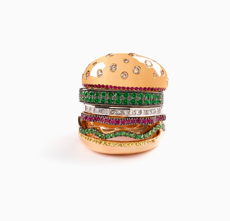 Nadine Ghosn's Hamburger Ring.
