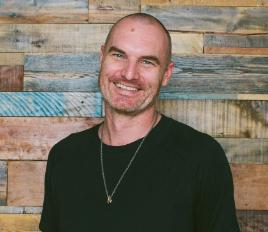 Chip McLain, yoga instructor with Moda Yoga in LA.