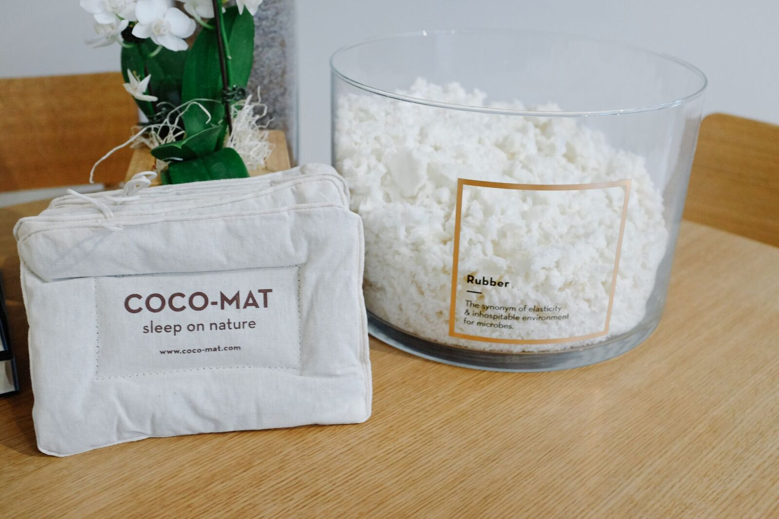 The all natural, lavender infused COCO-MAT pillow.