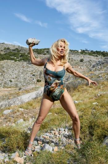 Pamela Anderson models Andreas Kronthaler for Vivienne Westwood.