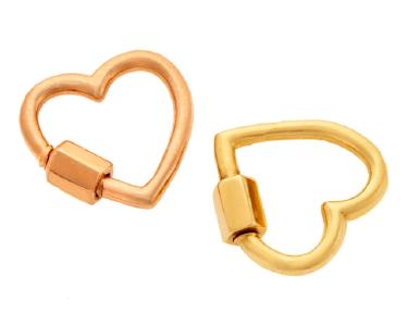 Marla Aaron's stone-free heart locks.