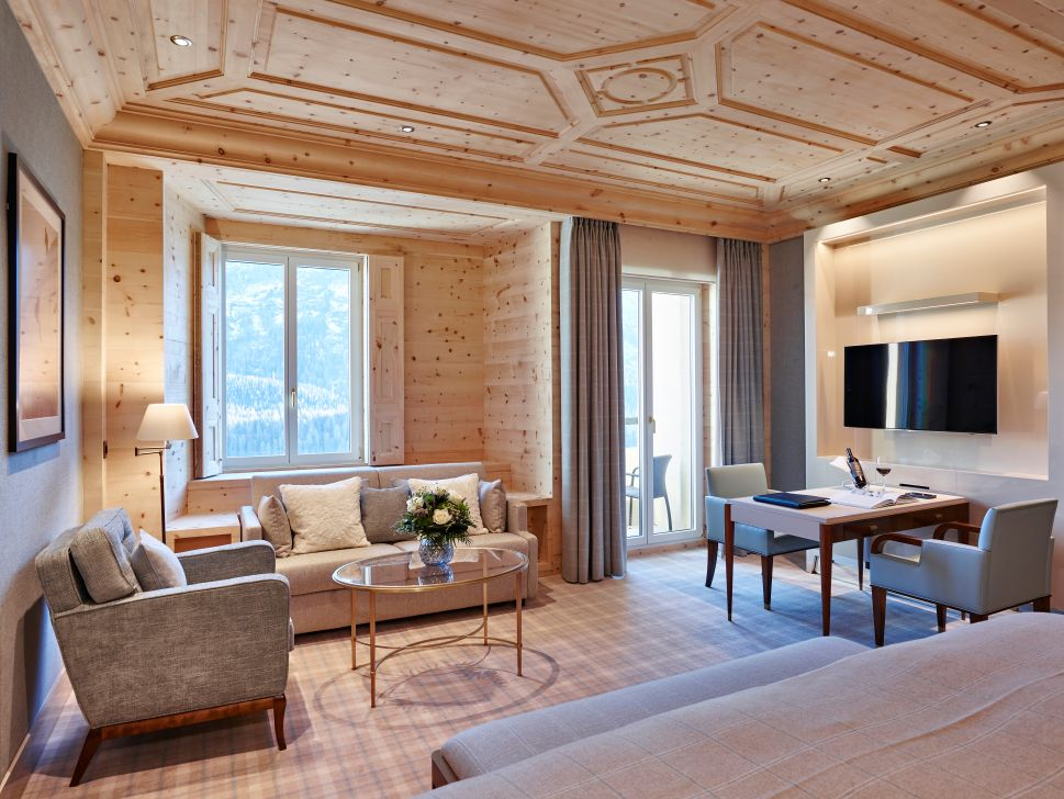 A Pierre-Yves Rochon-designed suite at The Kulm Hotel.