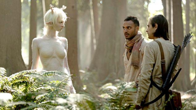 Emma Dumont, Arjun Gupta and Jason Ralph in The Magicians.