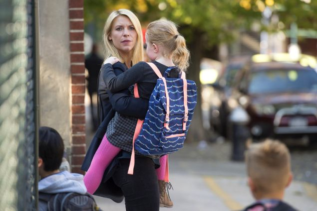 Claire Danes as Carrie Matheson on Homeland.