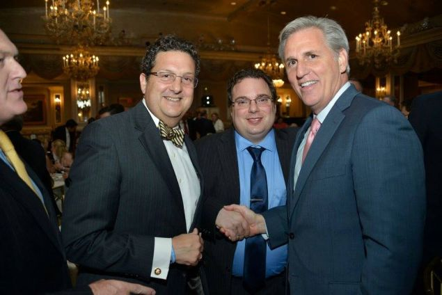 Robert Capano, center, with House Majority Leader Kevin McCarthy.