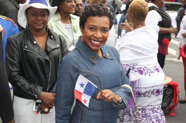 Brooklyn Congresswoman Yvette Clarke at the Panamanian Day Parade in Brooklyn last year.