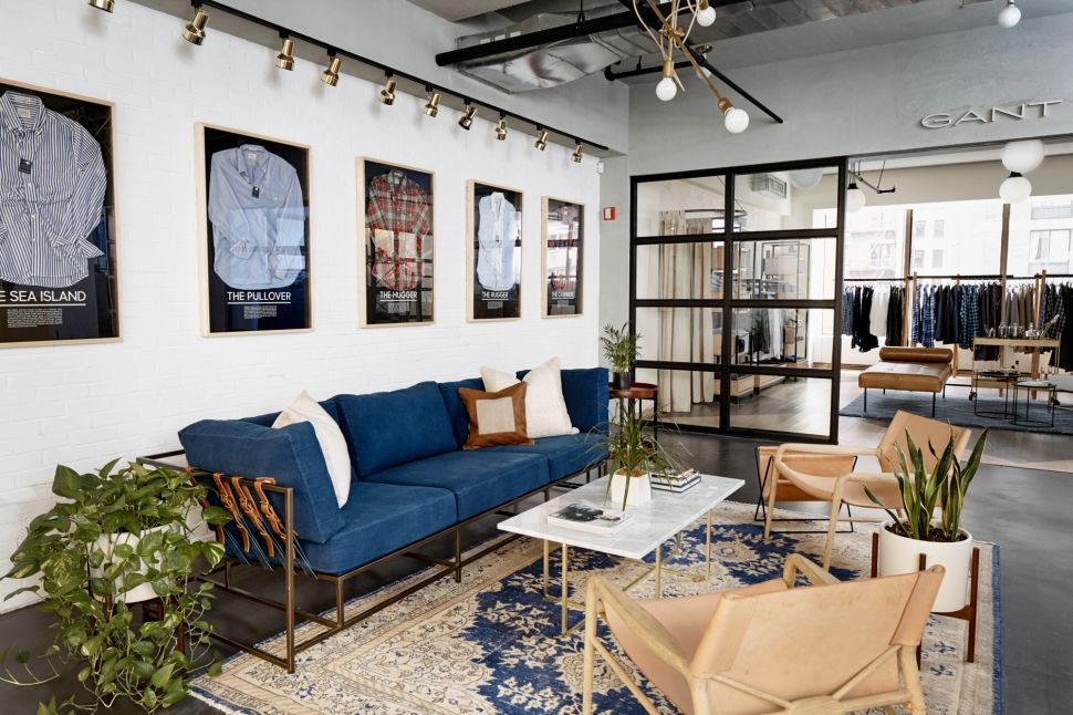 The Gant Lounge at 100 Wall Street.