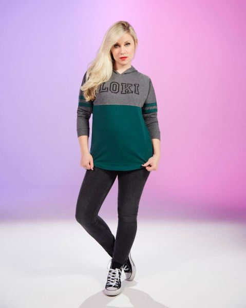 A comfy retro hoodie featuring Marvel's villainous character, Loki. Available at Heruniverse.com.