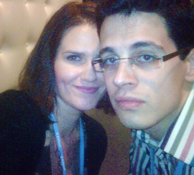 Jackie Danicki & Milo Yiannopolous at Twitter investor Jeff Pulver's #140Conf in New York, 2009