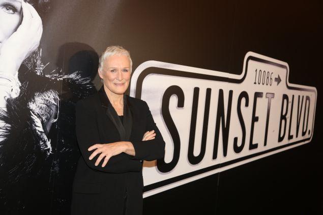 Glenn Close at the press event for Andrew Lloyd Weber's adaptation of Sunset Boulevard.