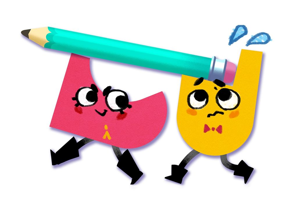 Snipperclips characters working together.