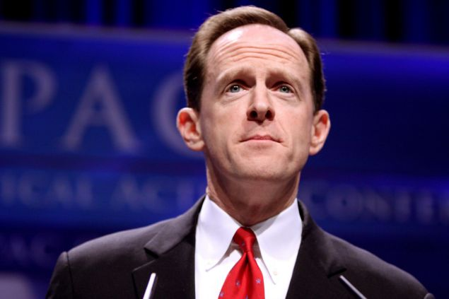 Pennsylvania senator Pat Toomey is the most frequently faxed congressman, according to the service FaxZero.