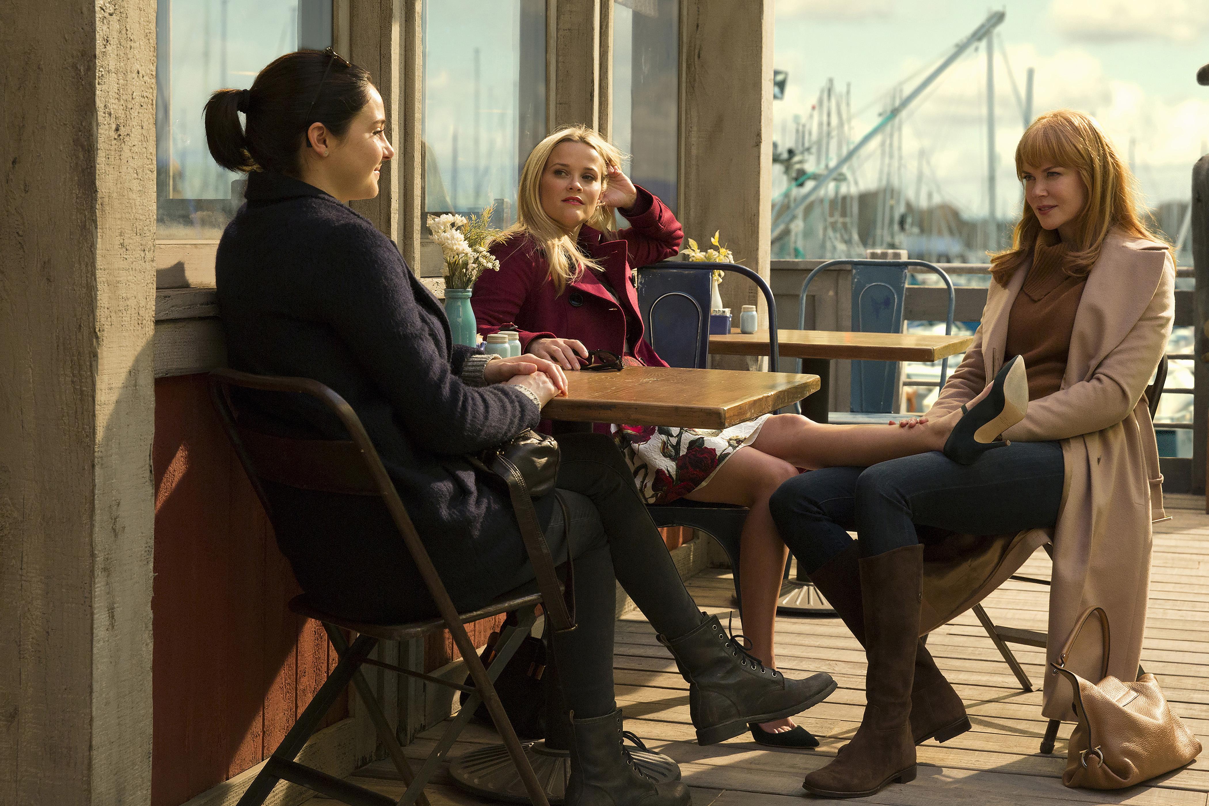 Shailene Woodley as  Jane Chapman, Reese Witherspoon as  Madeline Martha Mackenzie and Nicole Kidman as  Celeste Wright.