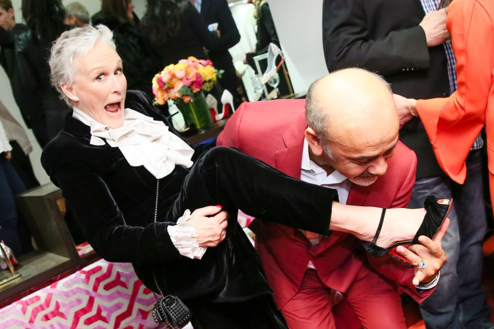 Glenn Close, Christian Louboutin.