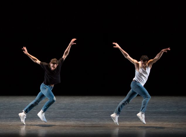 Justin Peck and Robert Fairchild in The Times Are Racing.