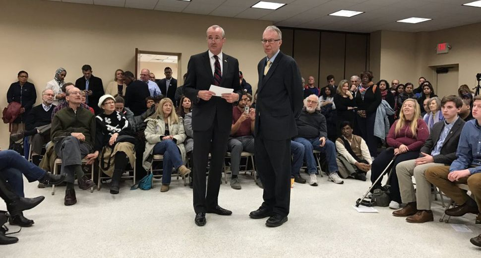 Phil Murphy and Levi Sanders at an event in N.J. earlier this year.
