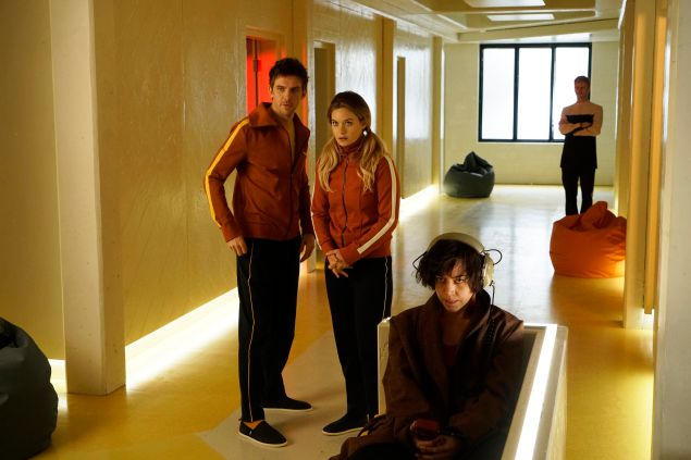 Dan Stevens as David Haller, Rachel Keller as Syd Barrett and Aubrey Plaza as Lenny Busker.