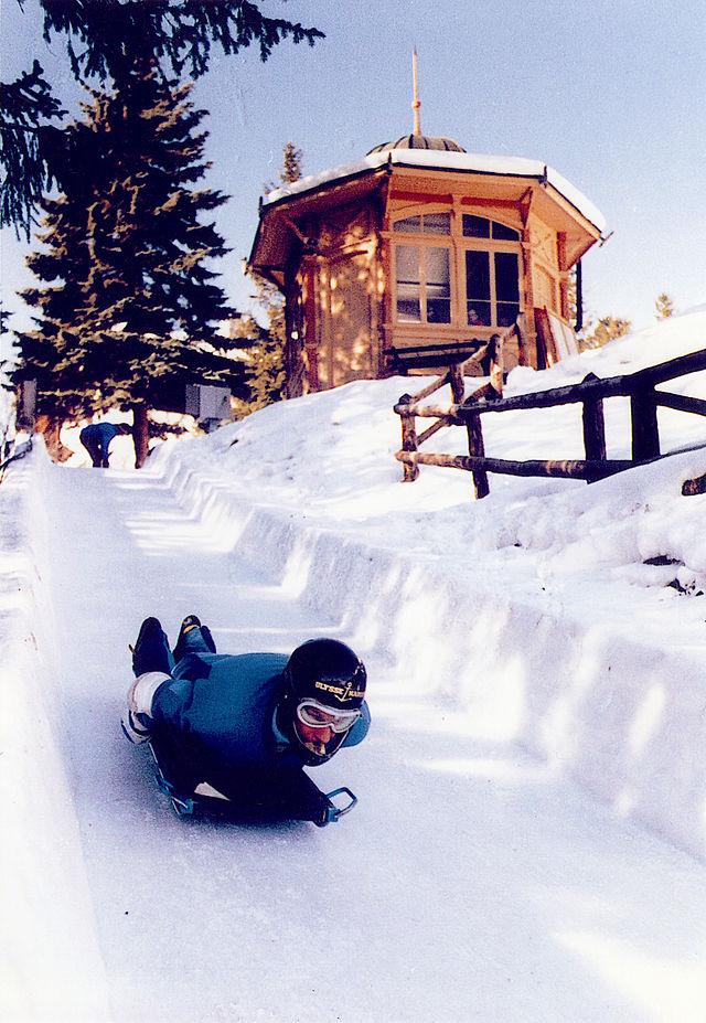 The Cresta Run at The St. Moritz Bobsleigh Club.