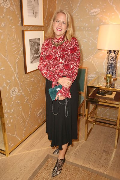 Los Angeles Times Fashion Critic Booth Moore attends Vogue and Tory Burch celebration.