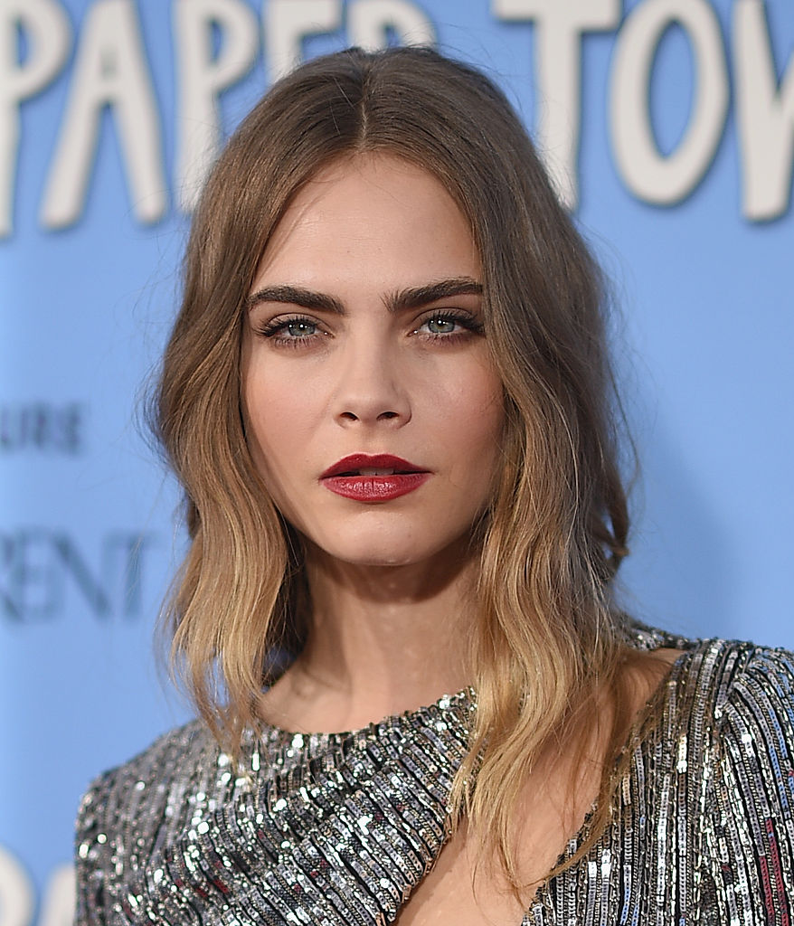 Cara Delevingne attends the 'Paper Towns' New York Premiere at AMC Loews Lincoln Square on July 21, 2015 in New York City. (Photo by Dimitrios Kambouris/Getty Images)