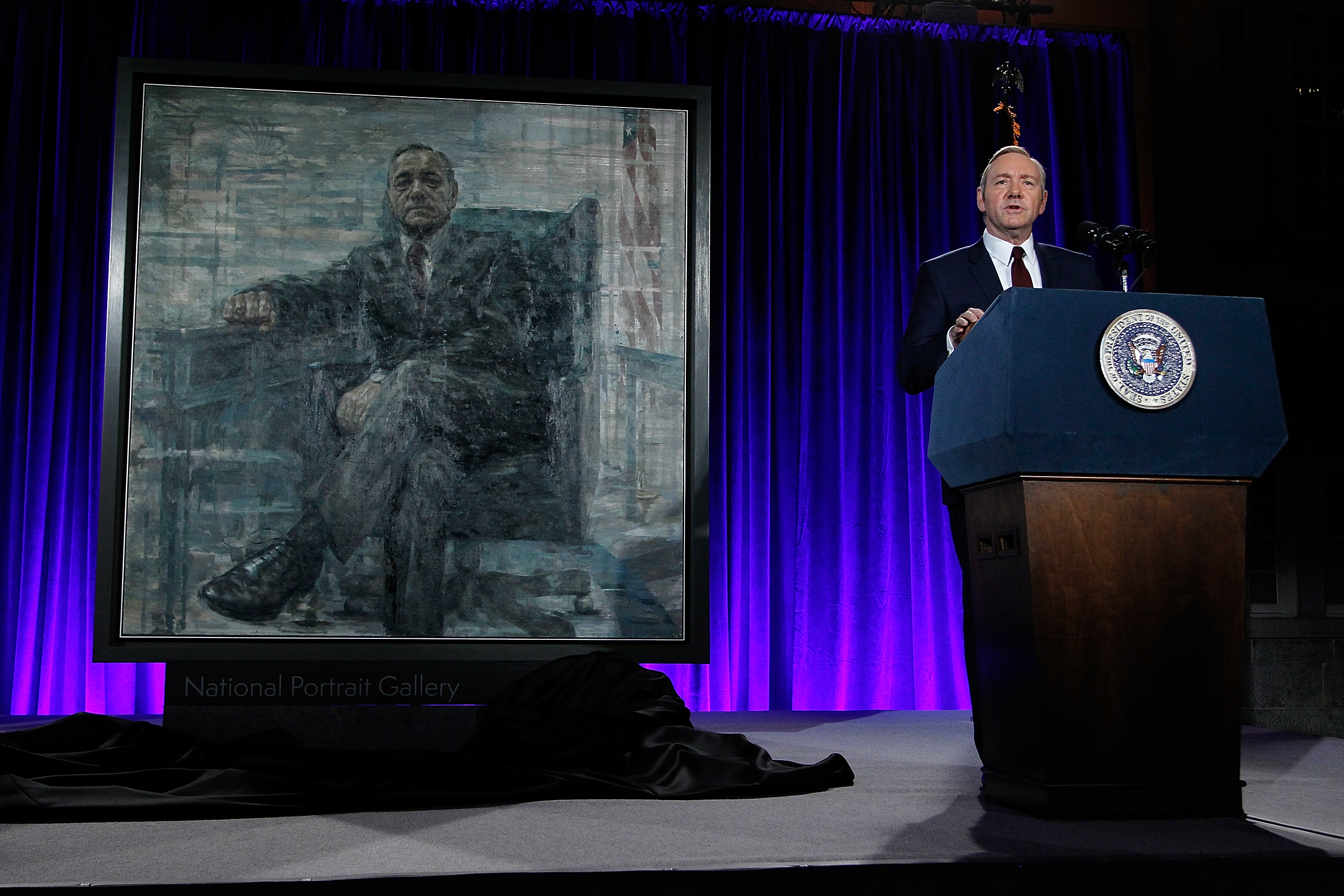 Kevin Spacey portrays Frank Underwood in Netflix's House Of Cards.