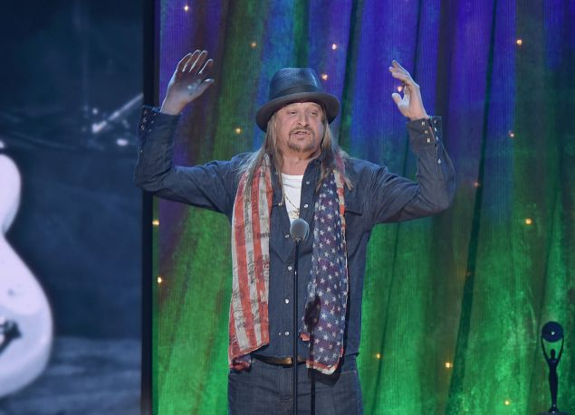 Kid Rock inducts Cheap Trick at the 31st Annual Rock And Roll Hall Of Fame Induction Ceremony
