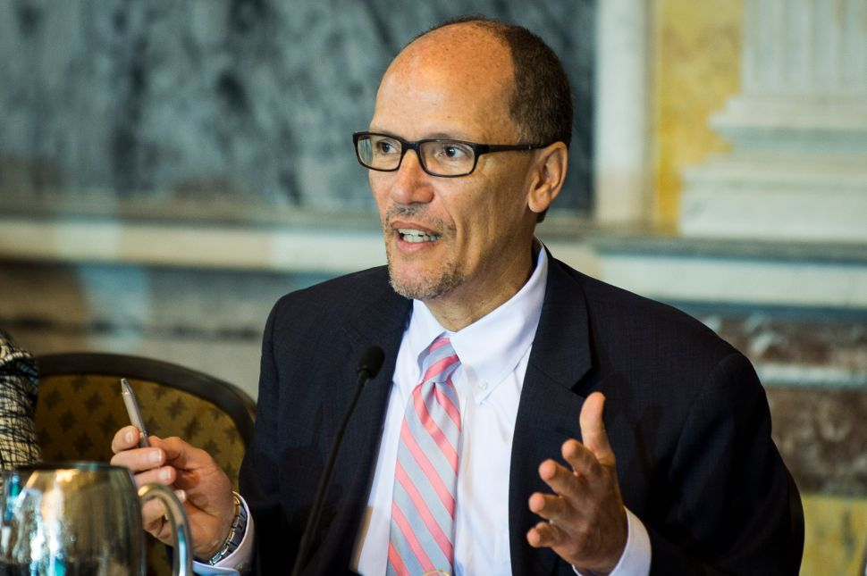 Former Secretary of Labor Tom Perez