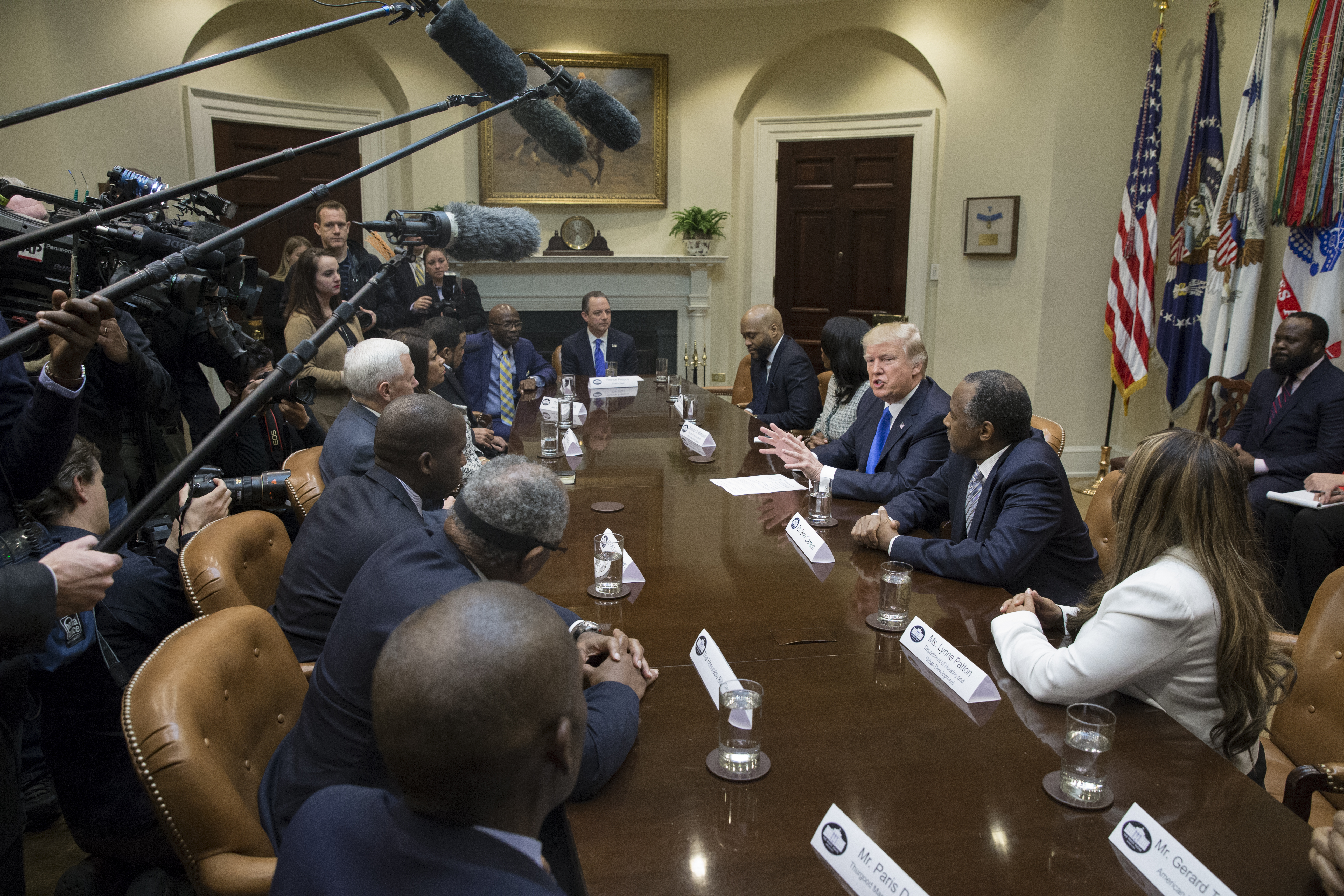 President Trump celebrates African-American History month.