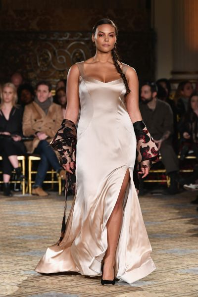Marquita Pring in Christian Siriano's show.