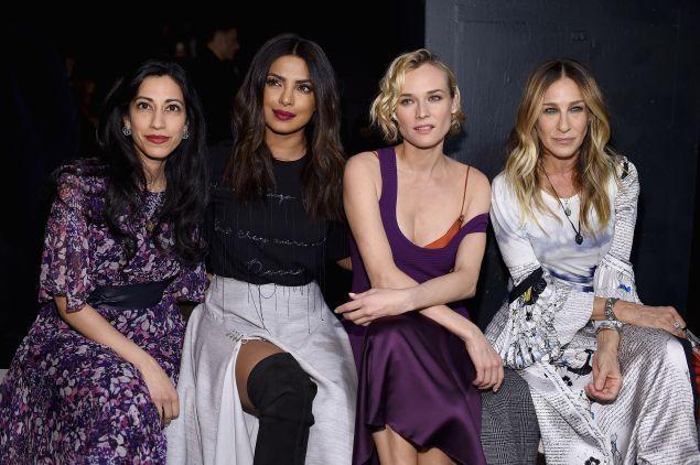 Huma Abedin, Priyanka Chopra, Diane Kruger, and Sarah Jessica Parker.