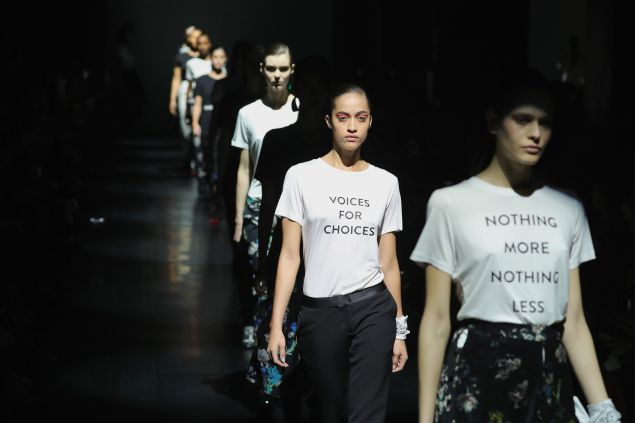 The bold t-shirts at Prabal Gurung.
