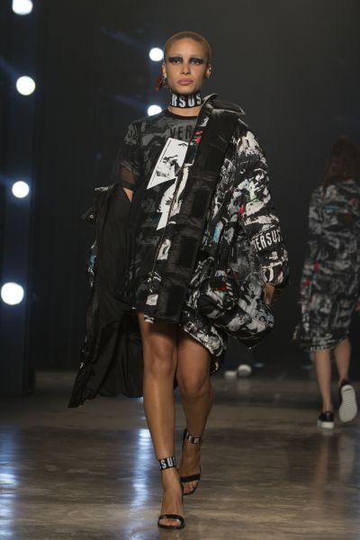 Adwoa Aboah at Versus Versace.