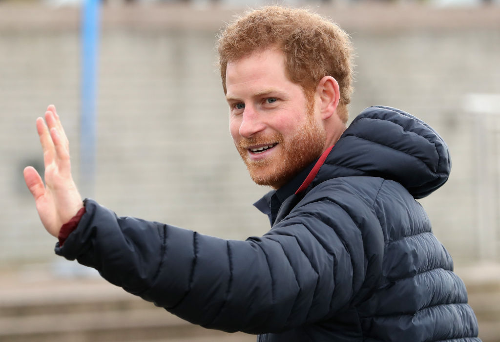 Prince Harry joins team Heads Together runners at the Quayside for a marathon training session on February 21, 2017 in Newcastle, United Kingdom. (Photo by Chris Jackson/Getty Images)