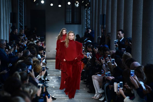 Rather rouge at Max Mara.