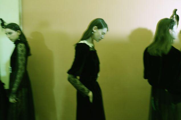 Models backstage.